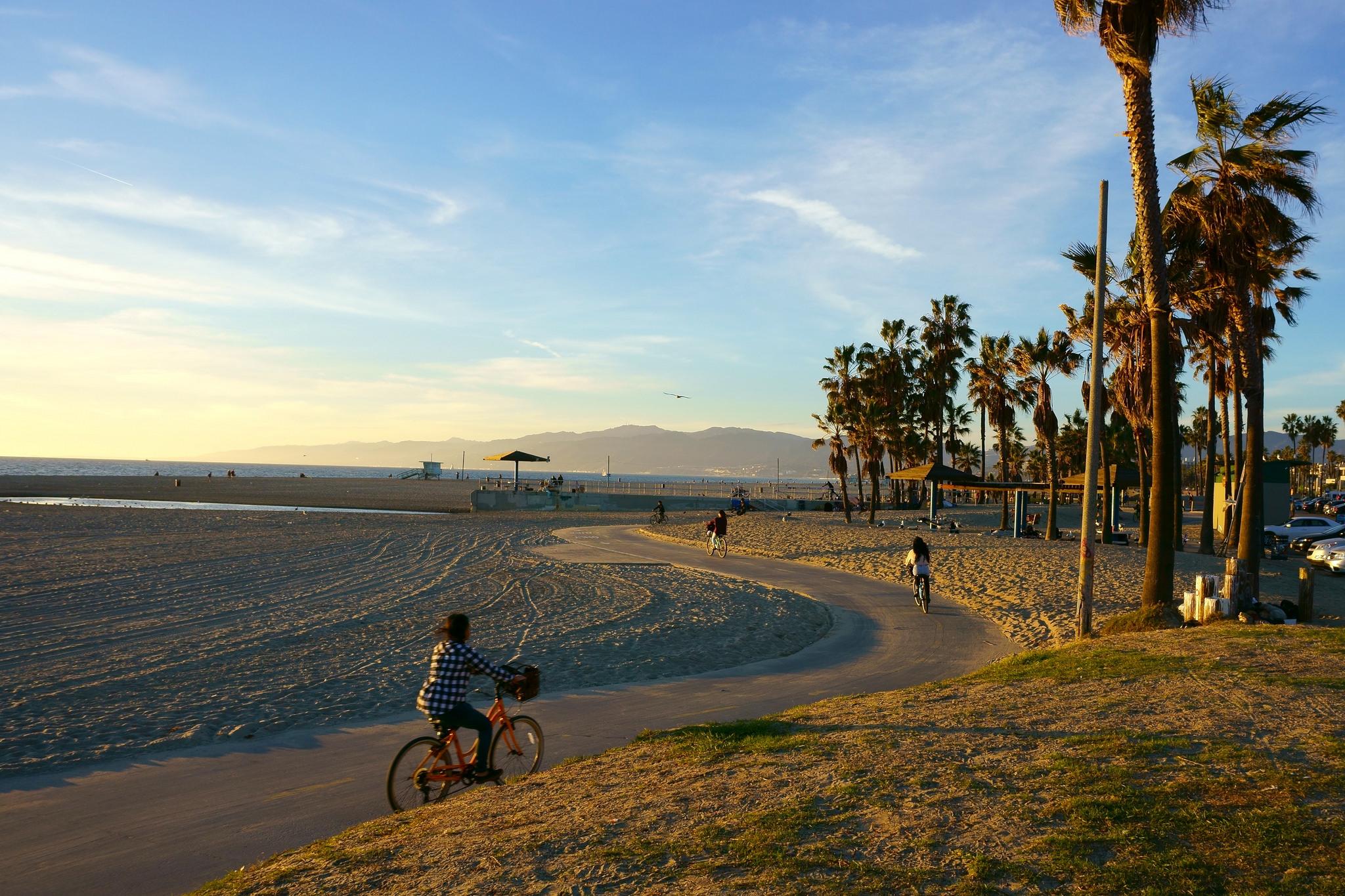 Vélos sur Venice Beach, USA
